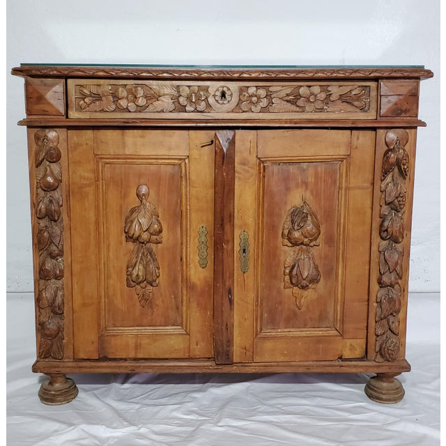 Wood 19th Century French Provincial Fruitwood Buffet For Sale - Image 7 of 7