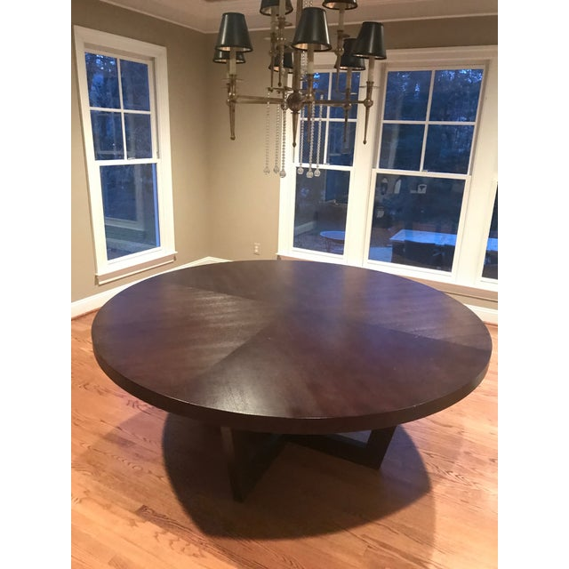 Italian 72 Inch Round Dining Table For Sale - Image 13 of 13