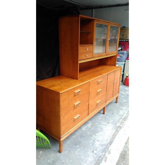 Brown Kipp Stewart for Drexel Sun Coast Credenza With Hutch For Sale - Image 8 of 11