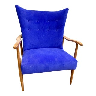 1960s Mid Century Modern Wing Back Chair For Sale