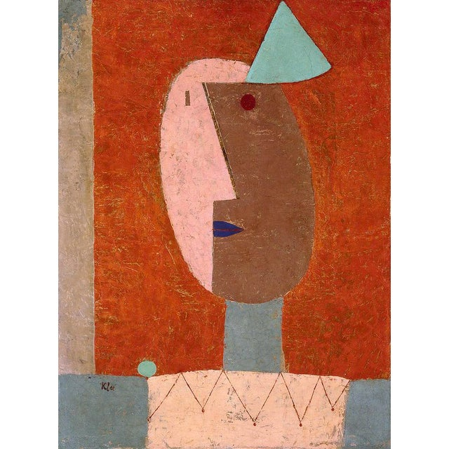 Paul Klee - Clown - Inspired Silk Hand Woven Area - Wall Rug 4′4″ × 5′10″ For Sale - Image 11 of 11