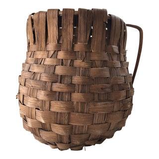 1960s Italian Handmade Basket For Sale
