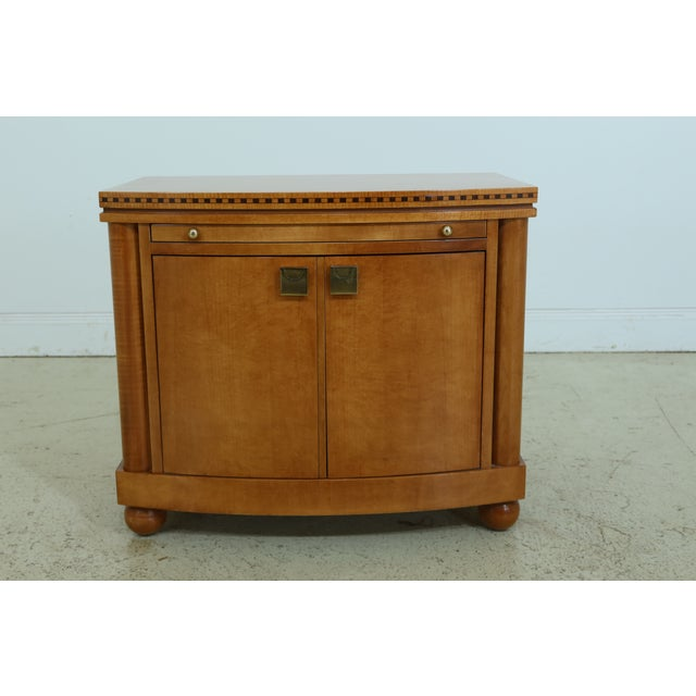 Wood Hickory White Satinwood Genesis Collection Nightstand For Sale - Image 7 of 7