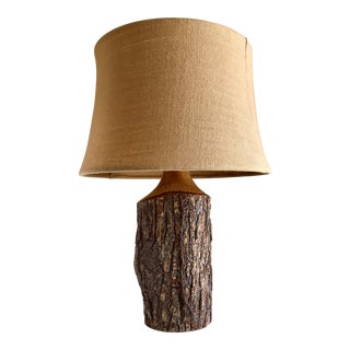 Rustic Earthy Boho Tree Lamp For Sale