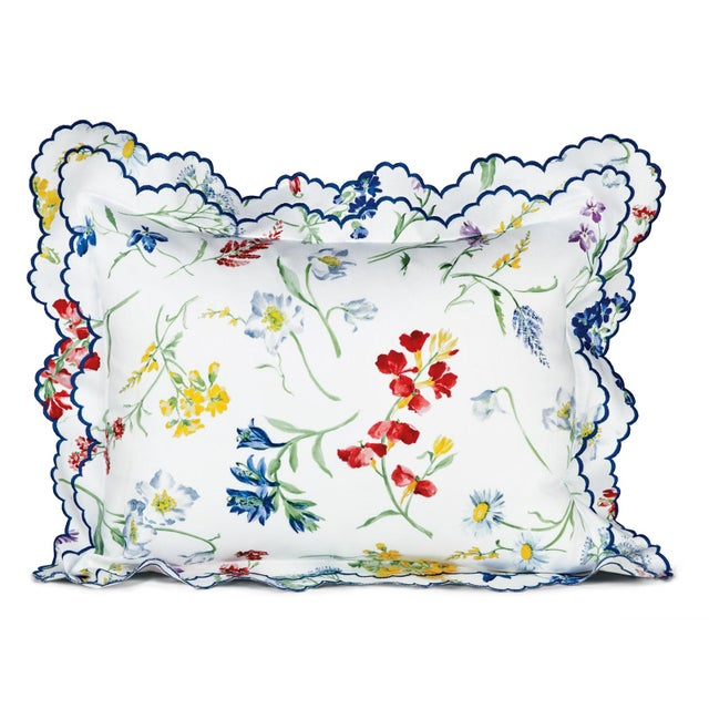 Contemporary Spring Blossom Sham Multi-Colored in Standard For Sale - Image 3 of 3