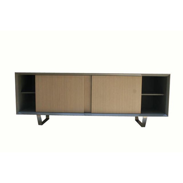Metal Customizable Yoon Sliding Door Console For Sale - Image 7 of 10