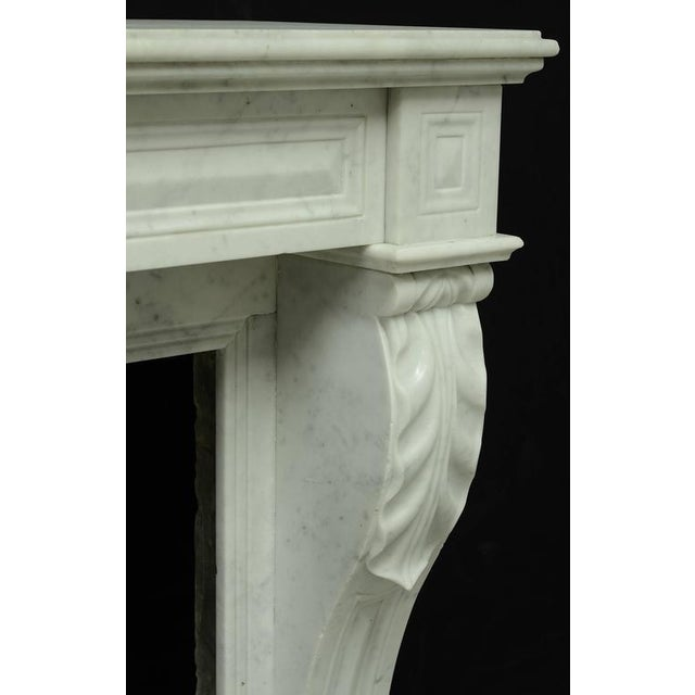 Small White Marble Louis XVI Fireplace, 19th Century For Sale - Image 6 of 9