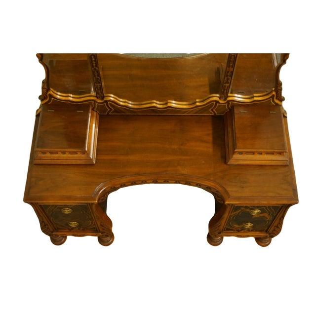 """Bassett Furniture French Regency Style 47"""" Vanity With Mirror For Sale In Kansas City - Image 6 of 13"""