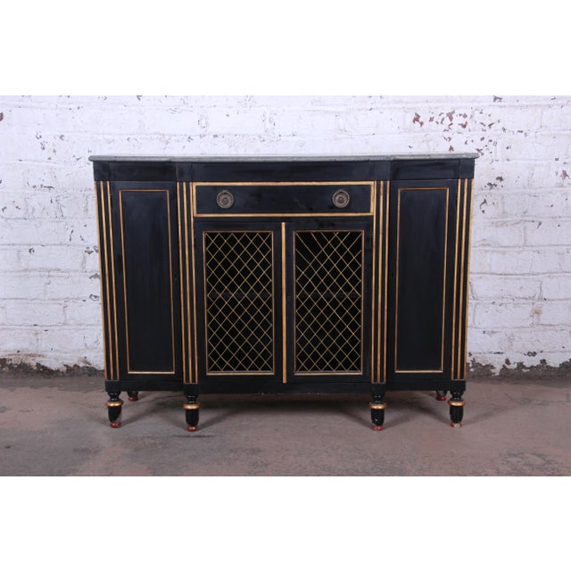 Baker Furniture Neoclassical Sideboard Credenza or Bar Cabinet For Sale - Image 12 of 12