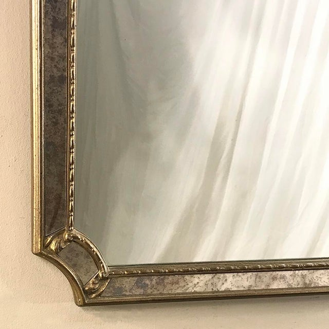Mid-Century Italian Venetian Gilded Mirror For Sale - Image 9 of 13