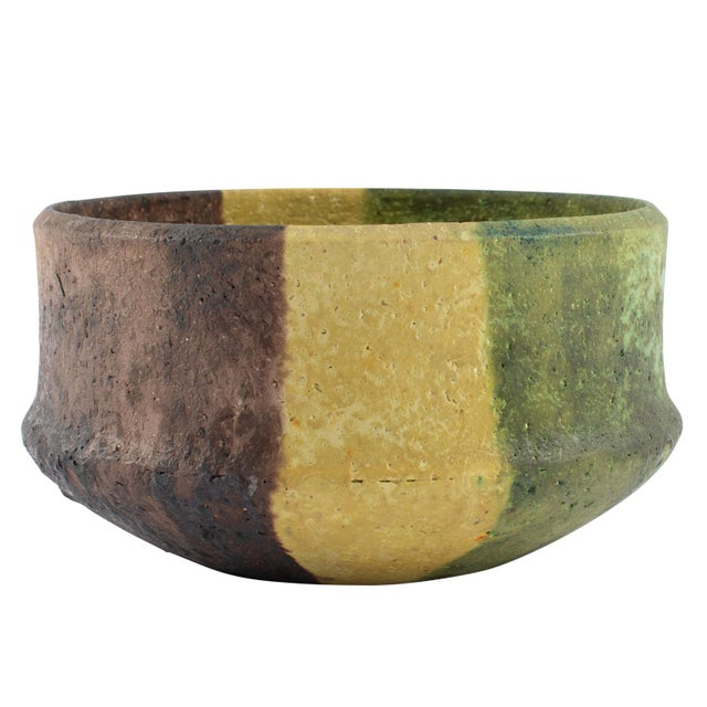 Marcello Fantoni Yellow, Green and Burgundy Ceramic Bowl, Circa 1970s For Sale - Image 13 of 13