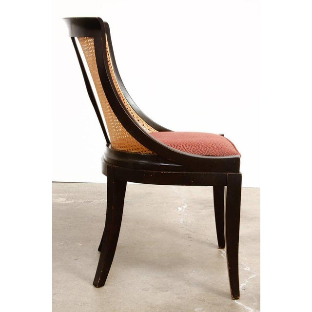 James Mont Style Ebonized Dining Chairs - Set of 4 For Sale - Image 10 of 13