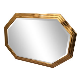 Vintage Octagonal Shaped Wall Mirror
