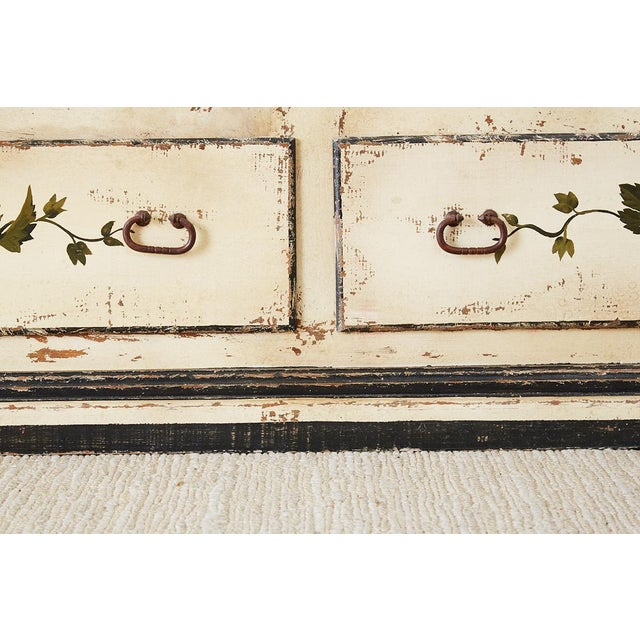 Country Italian Painted Four-Drawer Commode or Sideboard For Sale - Image 11 of 13