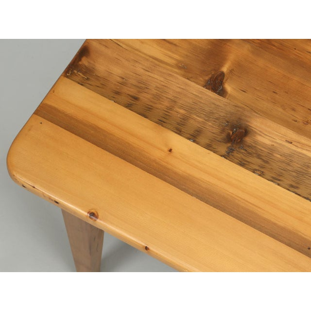 English Pine Farm Table From Main Pine Company For Sale - Image 10 of 11