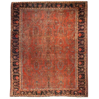 "Early 20th Century Saruk Rug - 116"" x 152"" For Sale"