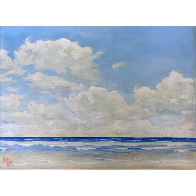 Vintage Seascape Oil Painting by H. Pond 1937 - Image 2 of 5
