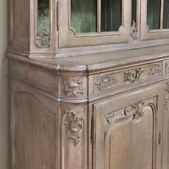 19th Century Country French Provincial Stripped Bookcase ~ Vitrine For Sale - Image 9 of 13
