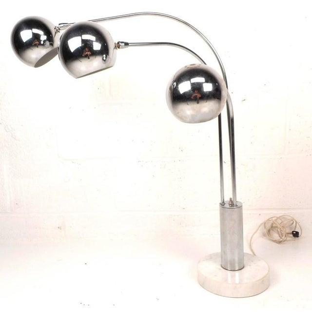 Mid-Century Modern Chrome Orb Swivel Floor Lamp - Image 2 of 5