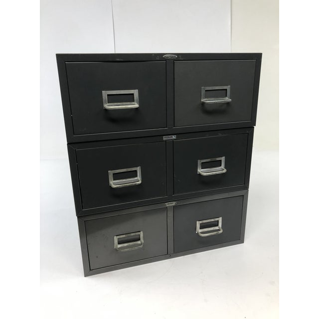 Vintage Two Drawer Industrial File Cabinets - Set of 3 by Cole Steel For Sale - Image 12 of 12