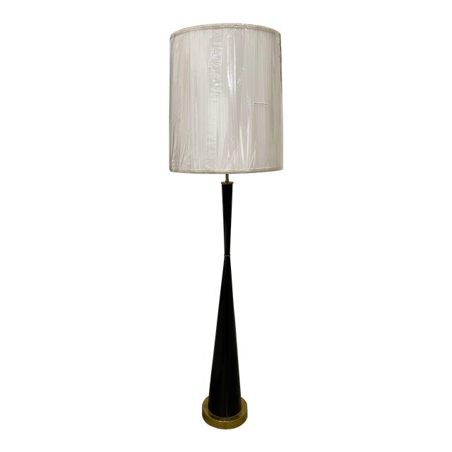 Italian Ebonized Wood Floor Lamps For Sale