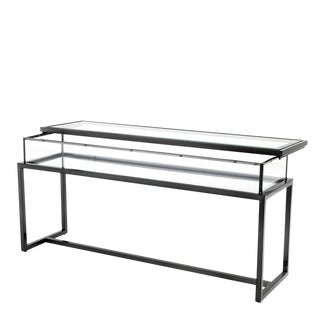 Harvey Bronze Sliding Top Console Table For Sale
