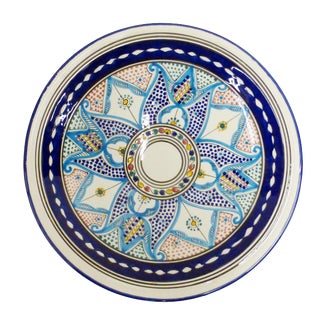 Moroccan Painted Plate For Sale