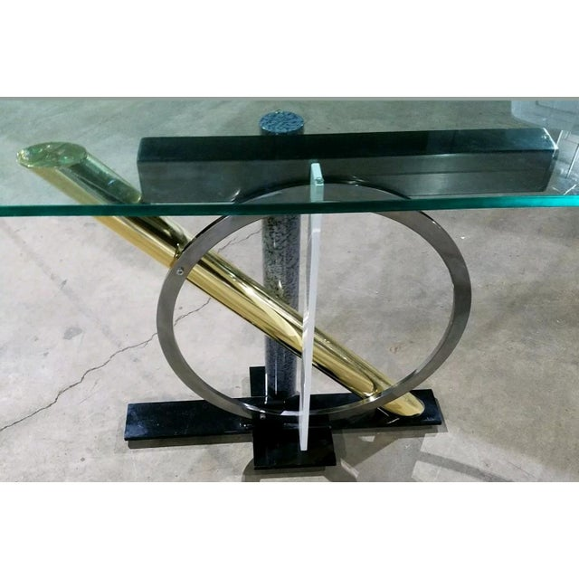 DIA - Design Institute America Kaizo Oto Dia Memphis Style Console Table For Sale - Image 4 of 6