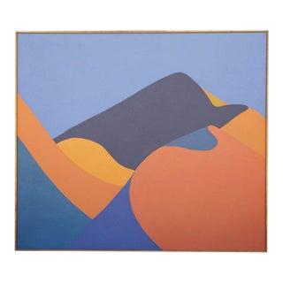 Jackie Carson Hard Edge Landscape Painting