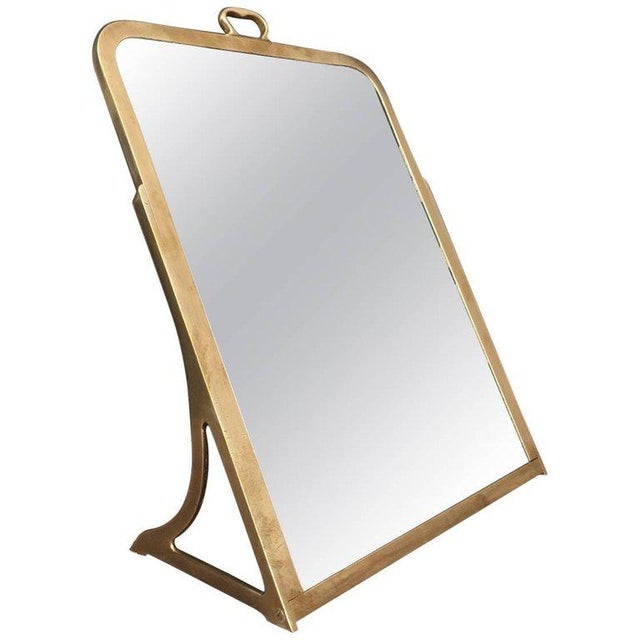 Brass Dressing Mirror Made for Shoes For Sale - Image 11 of 11