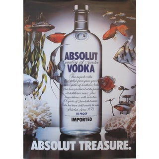 1985 Absolut Vodka Advertisement, Absolut Treasure (Fish) For Sale