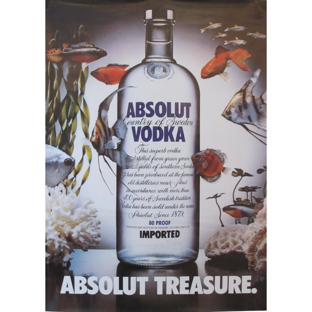Image of 1985 Absolut Vodka Advertisement, Absolut Treasure (Fish)