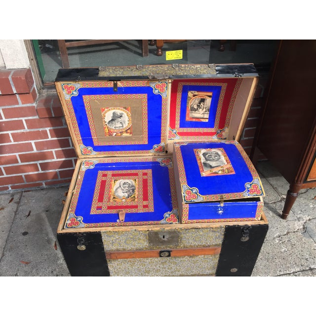 Antique Dome Top Trunk. Circa 1900 this trunk is in very good condition for its age. It has a fitted interior that is...