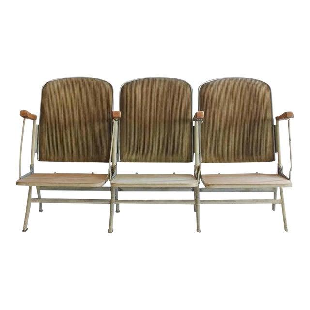 1920s American Stadium Three-Seat Bench For Sale