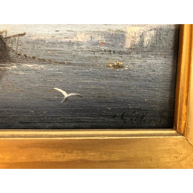 Late 19th Century Oil Seascape Paintings - a Pair For Sale - Image 6 of 9
