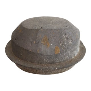 1920s Cast Metal Hat Form For Sale