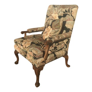 Carved Armchair Circa 1930 Lounge Chair For Sale