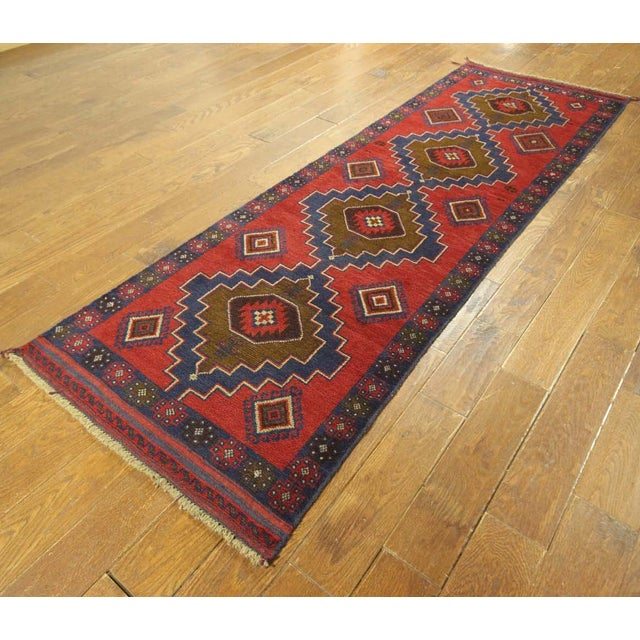 "Persian Tribal Baluch Runner Rug - 2'6"" x 9' - Image 4 of 7"