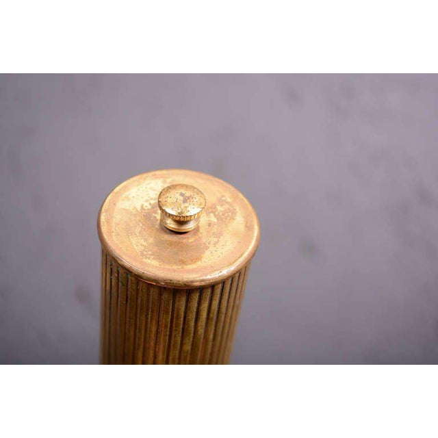 Brass Aldo Tura Parchment Pepper Shaker For Sale - Image 7 of 7