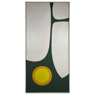 Large Modern Abstract Oil Painting by Wilhelmina Godfrey Circa 1968 For Sale