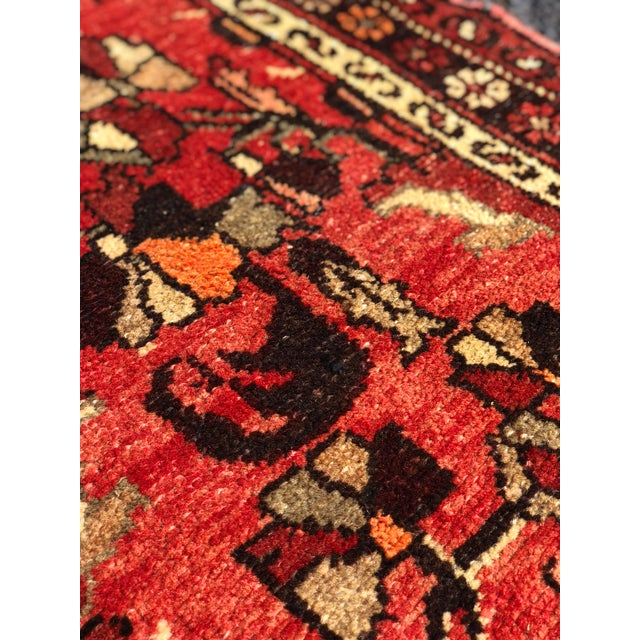 """Textile 1960's Vintage Persian Hamadan Thick & Heavy Runner 3'3""""x9'4"""" For Sale - Image 7 of 13"""