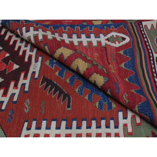 Kilim with Ascending Arches For Sale - Image 10 of 10