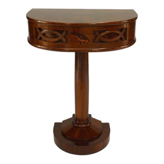 1930s Italian Art Deco Rosewood Console Table For Sale