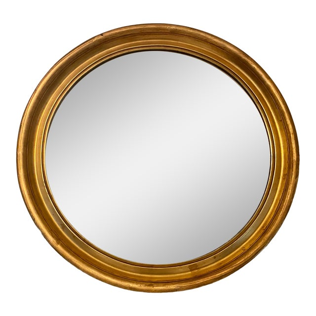 1950s Large Round Gilt Frame Hollywood Regency Mirror For Sale