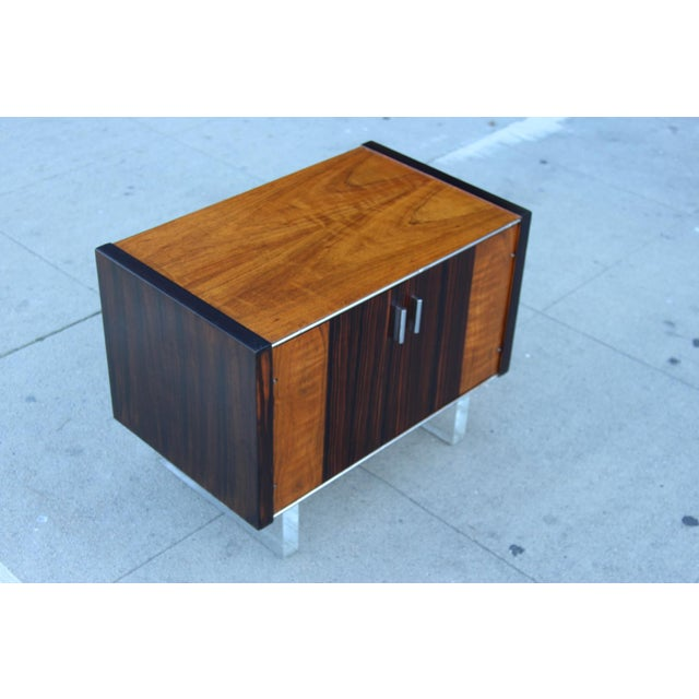 Mid-Century Wooden Nightstand on Lucite Base - Image 11 of 11