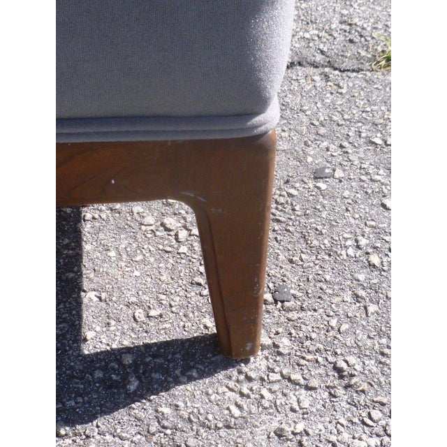 Wood 1950s Mid-Century Modern Edward Wormley Low Back Slipper Chairs - a Pair For Sale - Image 7 of 8