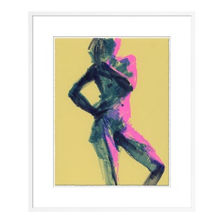 Figure 7 by David Orrin Smith in White Frame, Small Art Print For Sale
