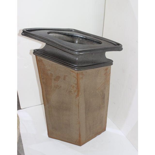 "Ceramic Brutalist Vase Form Glazed Pottery 36"" High Sculpture Signed by the Artisan For Sale - Image 7 of 13"