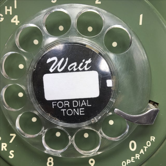 Moss Green Western Electric Rotary Dial Wall Phone - Image 9 of 11