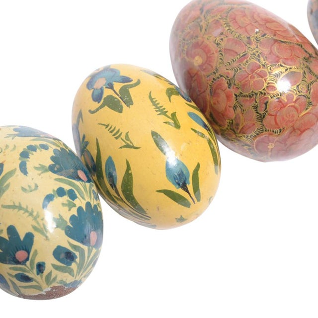 Paper Mache Kashmiri Eggs - Set of 4 - Image 2 of 3